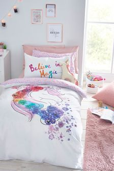Floral Unicorn Duvet And Pillowcase Set
