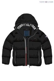 Черный пуховик Tommy Hilfiger