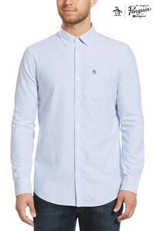 Original Penguin Blue Stripe Oxford Shirt