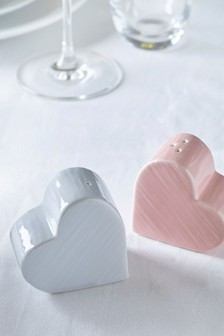 Hearts Salt and Pepper Shakers