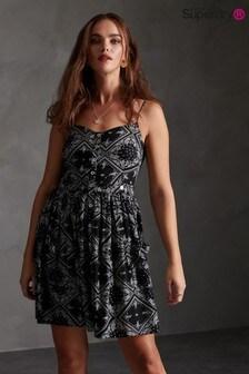 Superdry Blue All Over Print Cami Dress