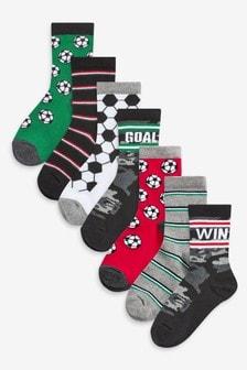 Bavlnené futbalové ponožky, 7 párov