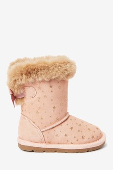 Water Repellent Suede Pull-On Boots (Younger)