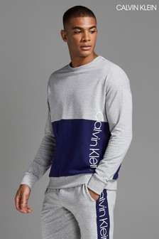 Calvin Klein Grey Colourblock Loungewear Sweatshirt