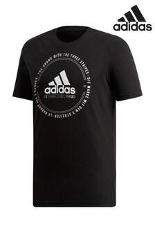 Черная футболка с логотипом adidas