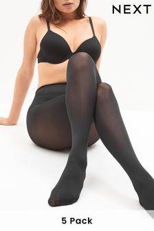 Пять черных матовых колготок плотностью 80 ден
