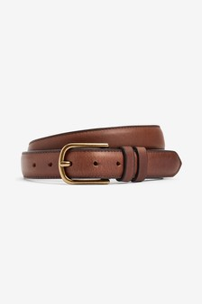 Leather Edge Stitched Belt