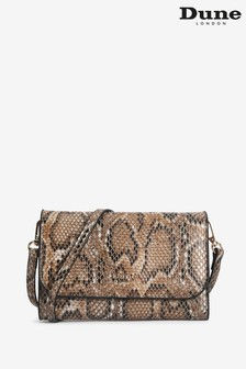 Dune London Kauraz Metallic Reptile Synthetic Printed Purse And Phone Holder