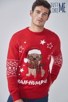 """Мужской джемпер с надписью """"Bah Humpug"""" из коллекции для всей семьи"""