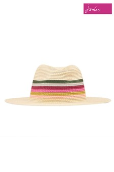 Joules Natural Dora Fedora Hat