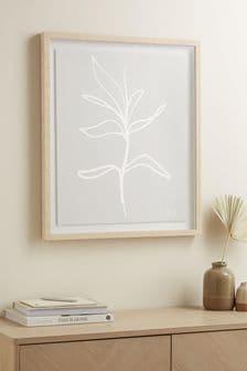 Linear Botanical Framed Art
