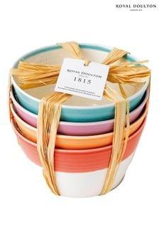 Набор из 4 глубоких тарелок для сухого завтрака Royal Doulton 1815 - 15 см