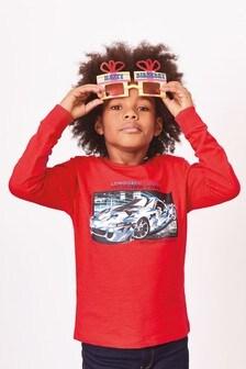 Tričko s maskáčovým autom a dlhými rukávmi (3 – 16 rok.)