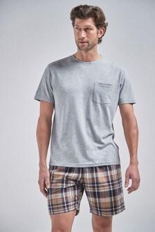 Check Woven Short Pyjama Set