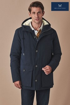 Crew Clothing Blue Hooded Parka