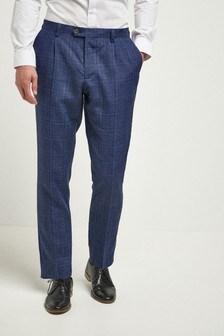 Linen Blend Check Suit