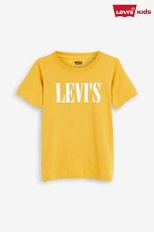 Желтая футболка с текстовым логотипом Levi's® (для детей)