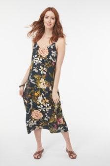 Платье-комбинация средней длины