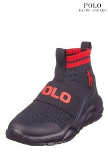 Ralph Lauren Navy Polo Sock Trainers
