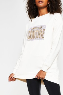 River Island Couture Safety Pin Pullover, Creme