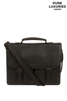 Pure Luxuries London Baxter Leather Work Bag