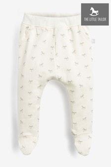 Кремовые трикотажные штанишки с принтом лошадок-качалок The Little Tailor
