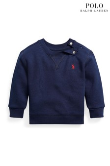סווטשירט עם לוגו בכחול כהה של Ralph Lauren