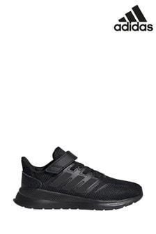 Детские кроссовки на липучках для бега adidas Falcon Run