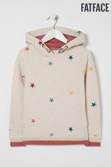 FatFace Natural Star Embroidered Popover Sweater