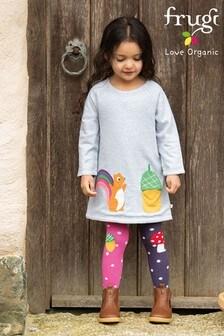 Frugi Organic Cotton Reversible Squirrel/Acorn Dress