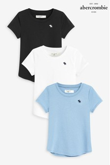 Abercrombie & Fitch Three Pack Short Sleeve T-Shirts
