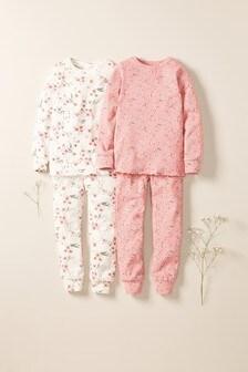 Набор из 2 уютных пижам с восточным цветочным рисунком  (3-16 лет)