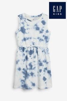 Gap Ärmelloses Kleid mit Knüpfbatikmuster