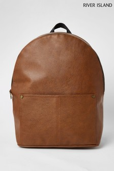 River Island Brown Pebble Backpack