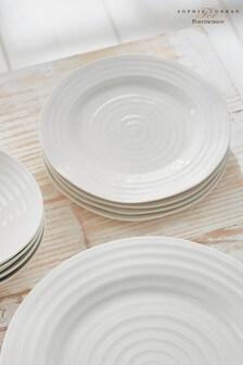 Set of 4 Portmeirion White Sophie Conran Dinner Plate Set