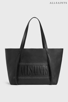 AllSaints Black Navarre Stud Tote Bag