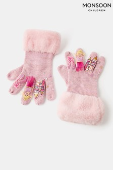 Monsoon Pink Princess Ballerina Novelty Gloves