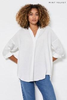 חולצה עליונית בצבע שנהב של Mint Velvet