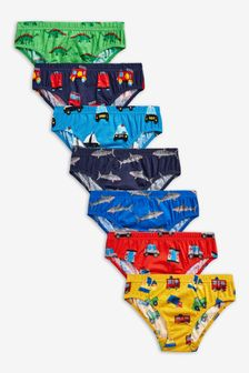 7 Pack Nursery Print Briefs (1.5-10yrs)