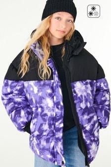 Короткая утепленная куртка из непромокаемой ткани (3-16 лет)