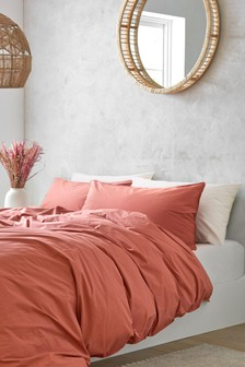 Washed Organic Cotton Duvet Cover and Pillowcase Set