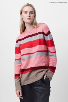 French Connection Kahlo Stripe Crew Neck Jumper