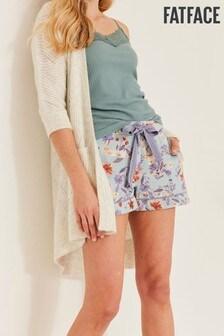 FatFace Green Bunny Floral Shorts