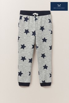 Crew Clothing Grey Printed Star Joggers