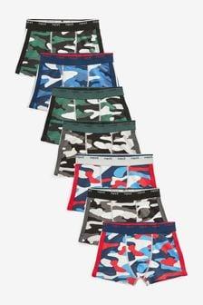 7件裝四角褲 (2-16歲)