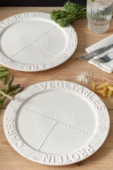 Súprava 2 tanierov s vyznačenými porciami