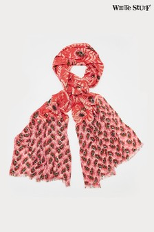 White Stuff Coral Bella Printed Bamboo Scarf