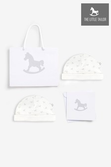 The Little Tailor White 2 Pack All Over Printed Hats