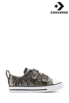נעלי ספורט מנצנצות לפעוטות דגם 2V של Converse