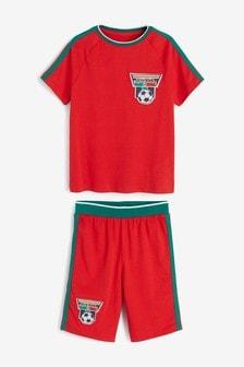 פיג'מות קצרות בהדפסי כדורגלפורטוגל (גילאי 3 עד 16)